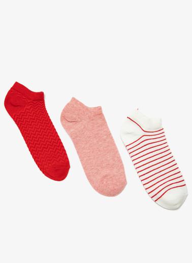 Koton 3'lü Çorap Kırmızı